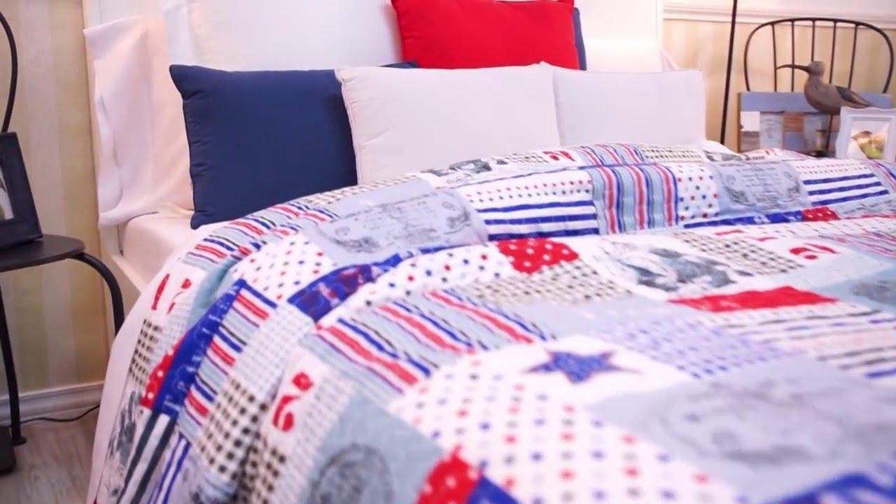 Colcha moderna bouti nicolas youtube - Colchas de patchwork modernas ...