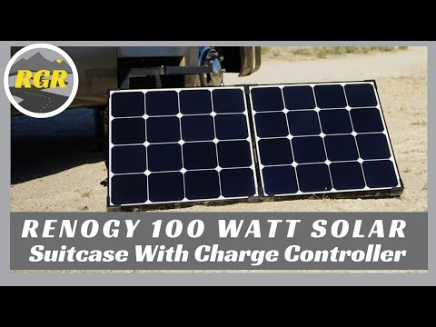 Renogy 100 Watt Solar Suitcase with Charge Controller | Product Review | Portable Solar Solution