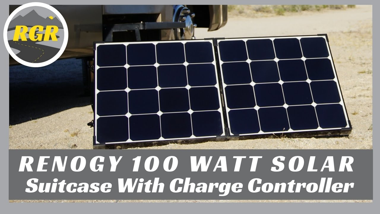 Renogy 100 Watt Solar Suitcase With Charge Controller