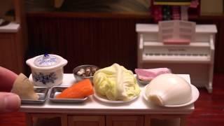 MiniFood vegetable soup 食べれるミニチュアポトフ