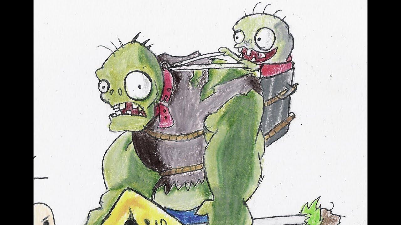 Como Dibujar A Un Pomelo De Pvz: Zombistein Vs Papa Mina (Plants Vs Zombies)