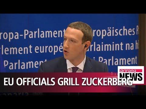 Facebook CEO apologizes to EU lawmakers over Cambridge Analytica data scandal