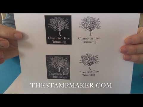 Positive vs Negative Rubber Stamps