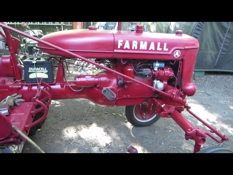 farmall a engine install and cold start pt 6