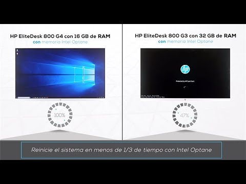 Finish work faster with a current-gen HP desktop and Intel Optane memory  (Spanish)