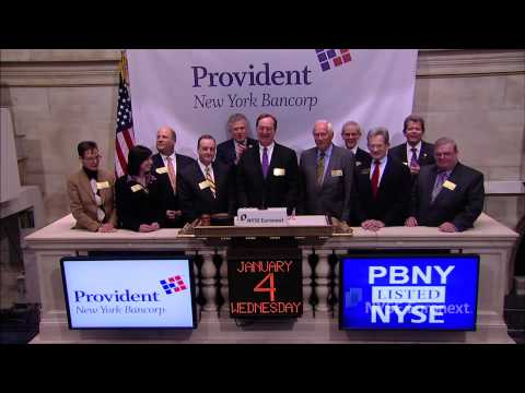 Provident New York Bancorp rings the NYSE Opening Bell