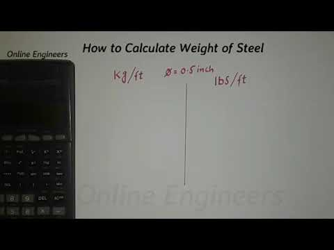 Weight of steel in pound /ft and kg/ft