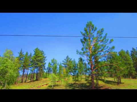 Вид из окна поезда - Природа Забайкальского края (близ г.Хилок)