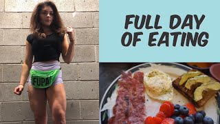 Full Day Of Eating as a teen powerlifter + training and vlog