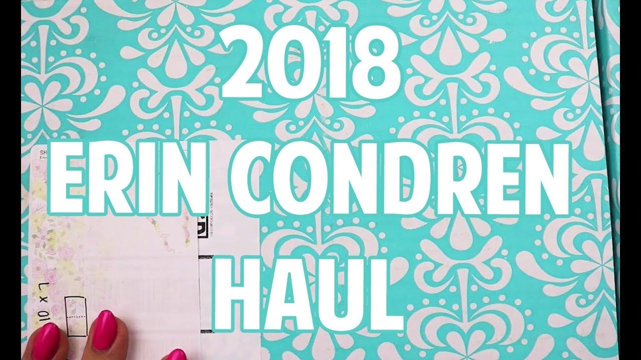 2018 ERIN CONDREN HAUL - YouTube