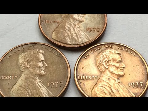 7300$$$ RARE 1975.1977.1978 LINCOLN PENNY NO MINT MARKS ONE CENT COIN COLLECTION WORTH MONEY