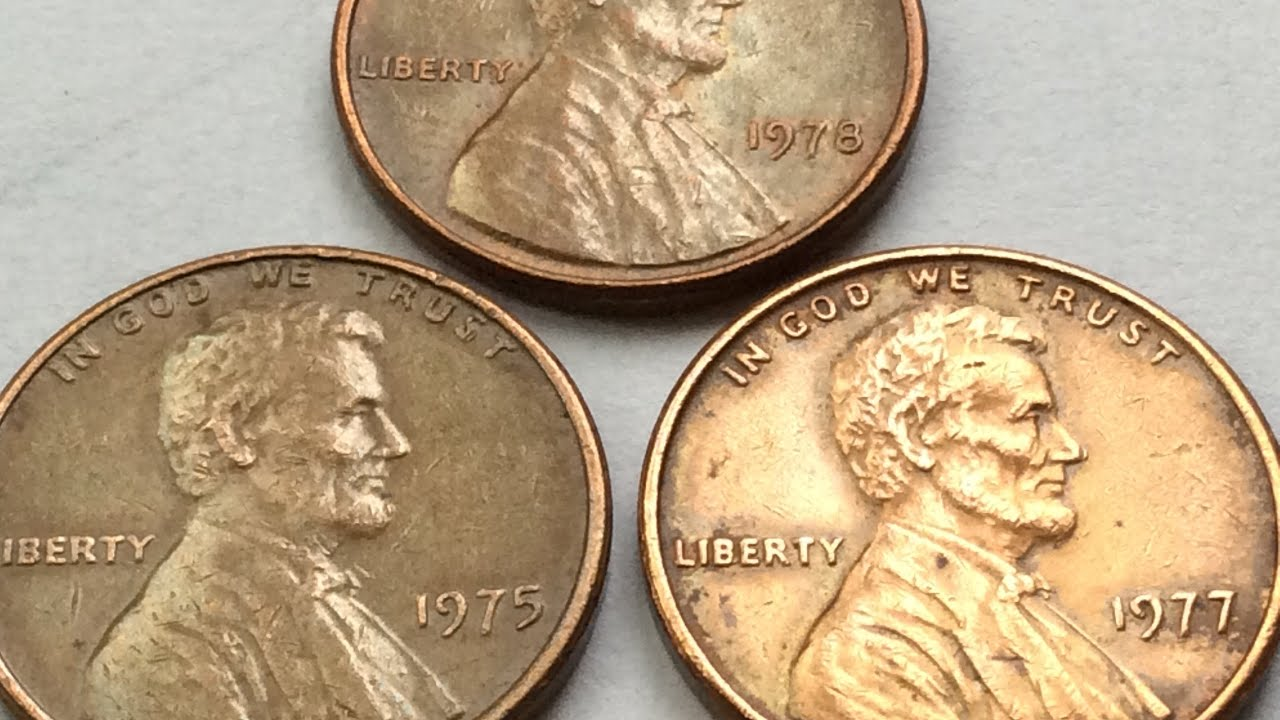 7300$$$ RARE 1975 1977 1978 LINCOLN PENNY NO MINT MARKS ONE CENT COIN  COLLECTION WORTH MONEY