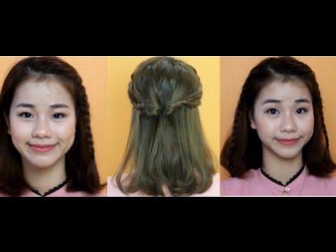 3 KIỂU TẾT ĐƠN GIẢN CHO TÓC NGẮN | Quin Makeup