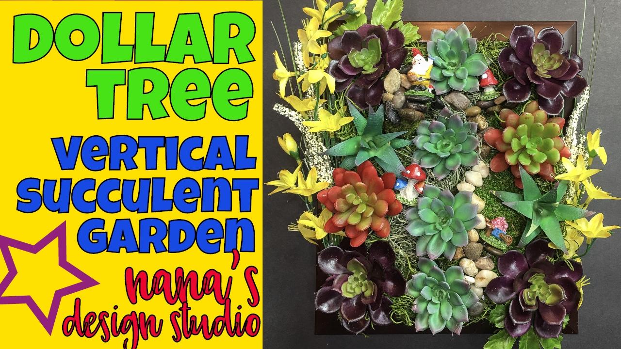 Do It Yourself Garden: Dollar Tree Vertical Succulent Garden: Do-it-Yourself