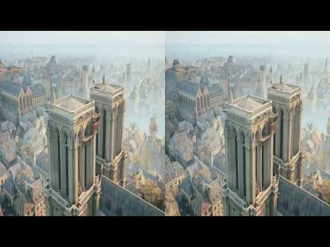 Assassin's Creed Unity Highest Leap of Faith VR 3D