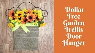Wonderful Wreaths: Dollar Tree Garden Trellis Door Hanger