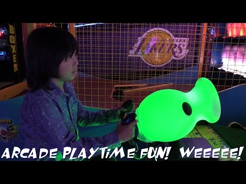 Indoor Amusement Arcade Games Playtime Fun with Hulyan & Maya PART 1