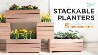 A Vertical Garden Made From Diy Stackable Planters