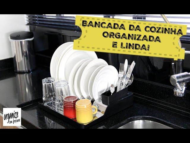 DICAS PARA ORGANIZAR E LIMPAR A BANCADA DA COZINHA (PIA)   Organize sem Frescuras!
