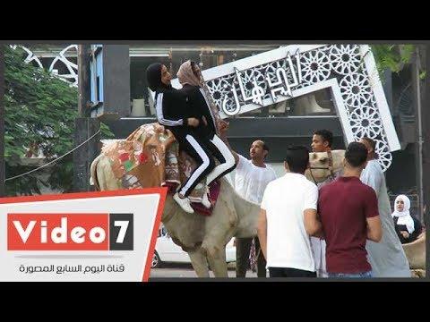 ركوب الجمال فسحة الفتيات فى عيد الفطر المبارك  - 08:21-2018 / 6 / 15