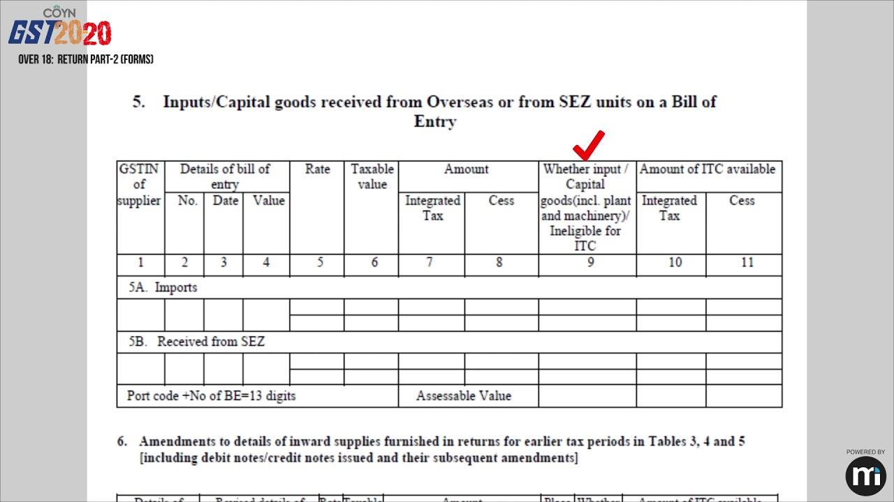 Fill GSTR-2 Form - Step by Step   Learn GST with CA Prabhakar ...