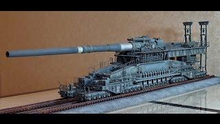 обзор масштабная модель железнодорожное орудие ДОРА 1:72 (tamiya) Modelling DORA railway gun