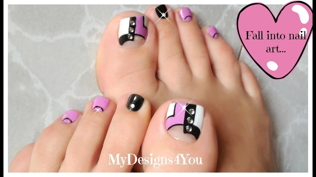 Purple Toenail Art Design | Abstract Pedicure ♥ - YouTube