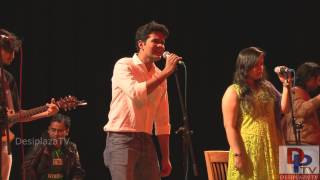 "Students singing Tamil song  at UTA Indian Culture Council (ICC) event ""Swaagat"