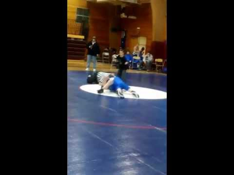 Jeramiah's  wrestling match at wind river middle school