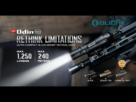 Senter Olight Odin Mini 1250 Lumens - Ultra Compact M-Lok Mount Tactical Flashlight