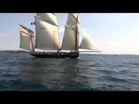 3 masted French lugger Looe 2011