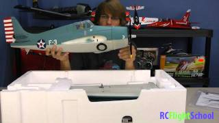 Parkzone F4F Wildcat Unboxing & First Review