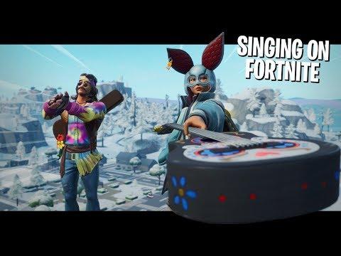 SINGING on Fortnite w/ m0dality!