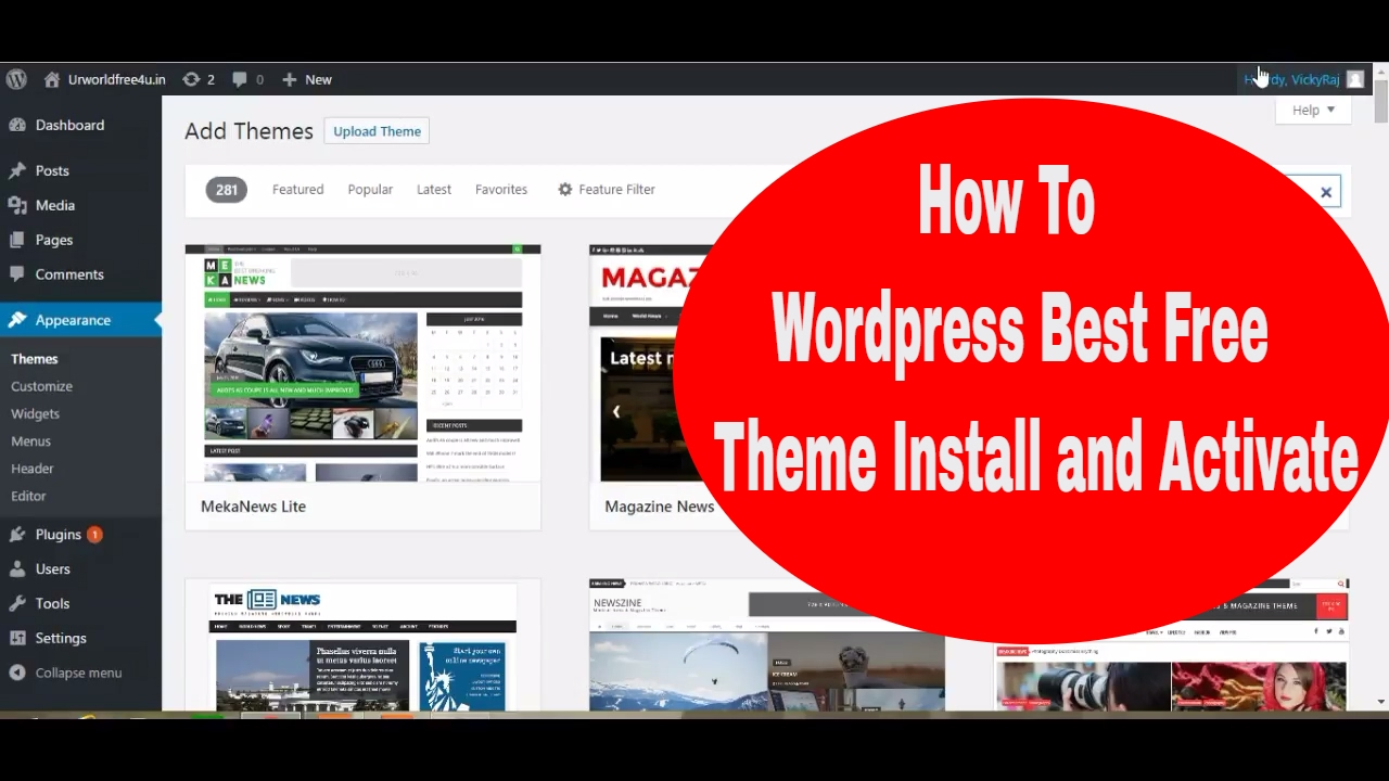 How To WordPress Best Free Theme Install and Activate - YouTube