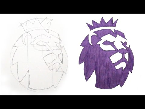 TUTORIAL - How To Draw The Premier League Logo - DeMoose Art