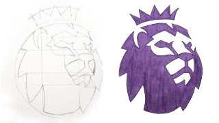 TUTORIAL - How To Draw The Premier League Logo - DeMoose Art