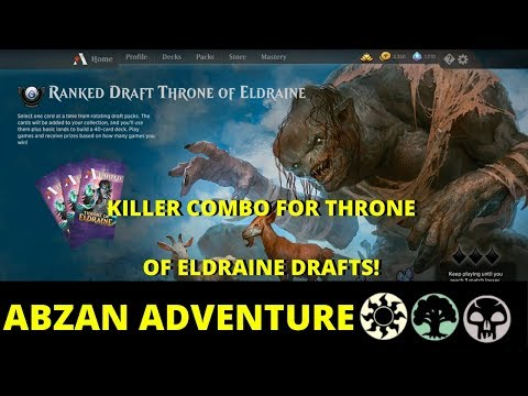 abzan-adventure-with-killer-combo-|-ranked-draft-throne-of-eldraine-[mtg-arena]