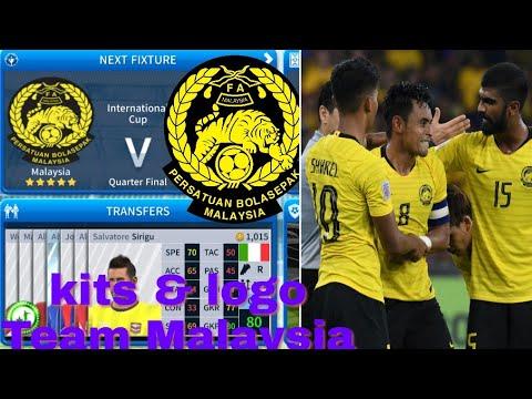 How To Create Malaysia National Team Kits & Logo | Dream League Soccer 2019