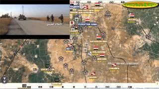 Обзор карты боевых действий в Сирии за 19. 10. 2015 год