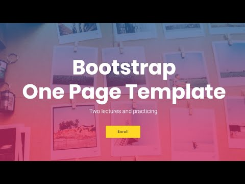 Bootstrap One Page Template - Free HTML Website Templates