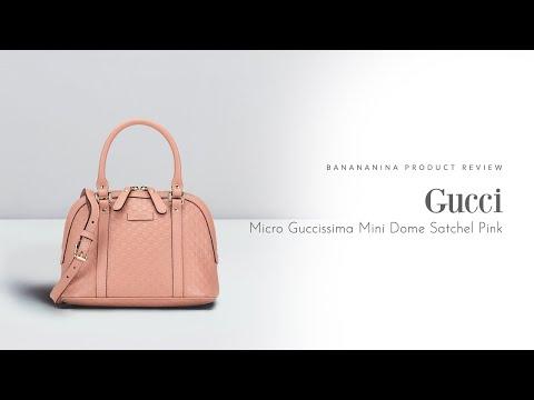 Banananina Product Review: Gucci Micro Guccissima Mini Dome Satchel Pink