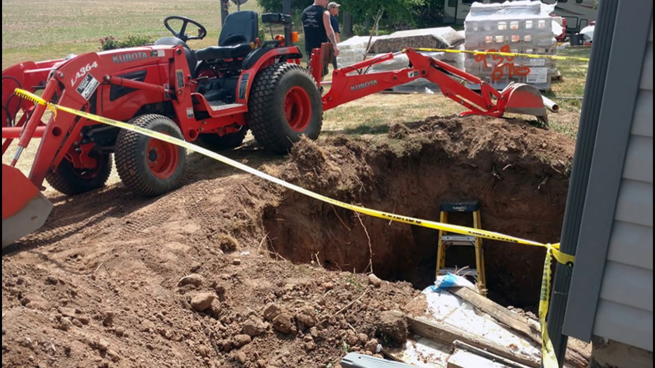how to build a outside basement entrance