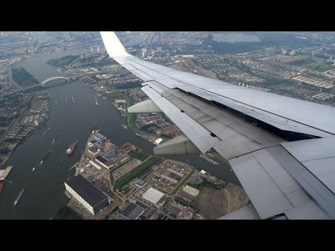 Transavia Boeing 737-700 – Amazing Overview Landing At Rotterdam The Hague Airport
