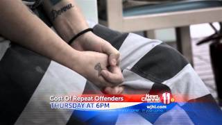 Cost of Repeat Offenders - Thursday 5/8 at 6PM on WJHL News Channel 11(Thursday at 6PM on News Channel 11 - Cost Of Repeat Offenders Roughly half of Tennessee inmates released from prison, end up right back behind bars ..., 2014-05-06T20:28:17.000Z)