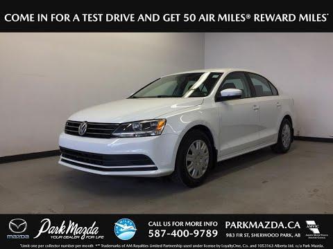 WHITE 2015 Volkswagen Jetta Sedan  Review Sherwood Park Alberta - Park Mazda