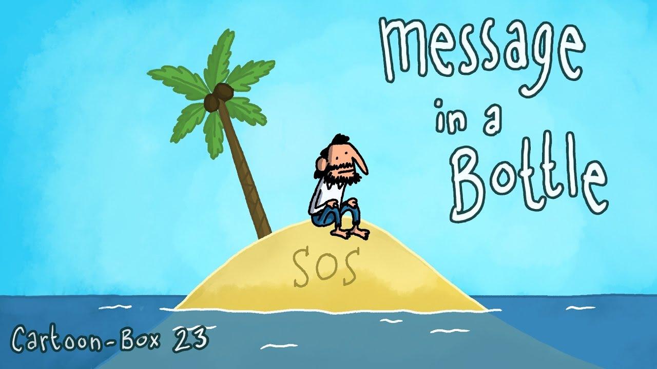 message in a bottle cartoon box 23 youtube
