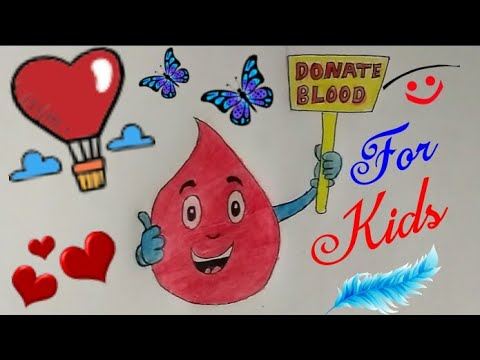 How To Draw Blood Donate Coloring Drawing Step By Step Easy Blood