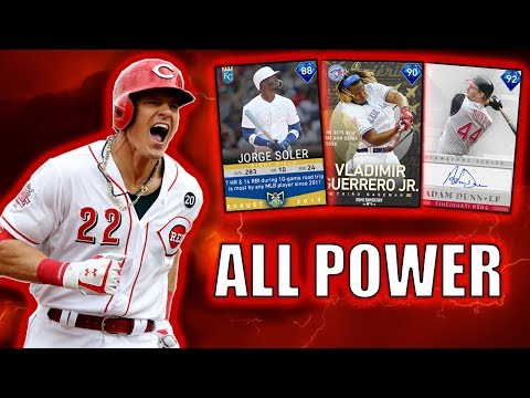 ALL POWER / LOW CONTACT! TANKS ON TANKS! MLB THE SHOW 19 RANKED SEASONS TEAM BUILD!
