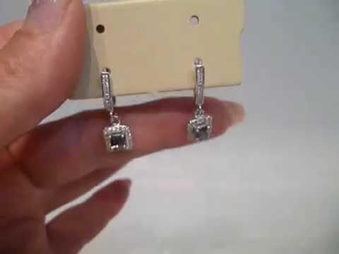 Серьги из серебра с натуральными топазами Sokolov 92020433 - YouTube
