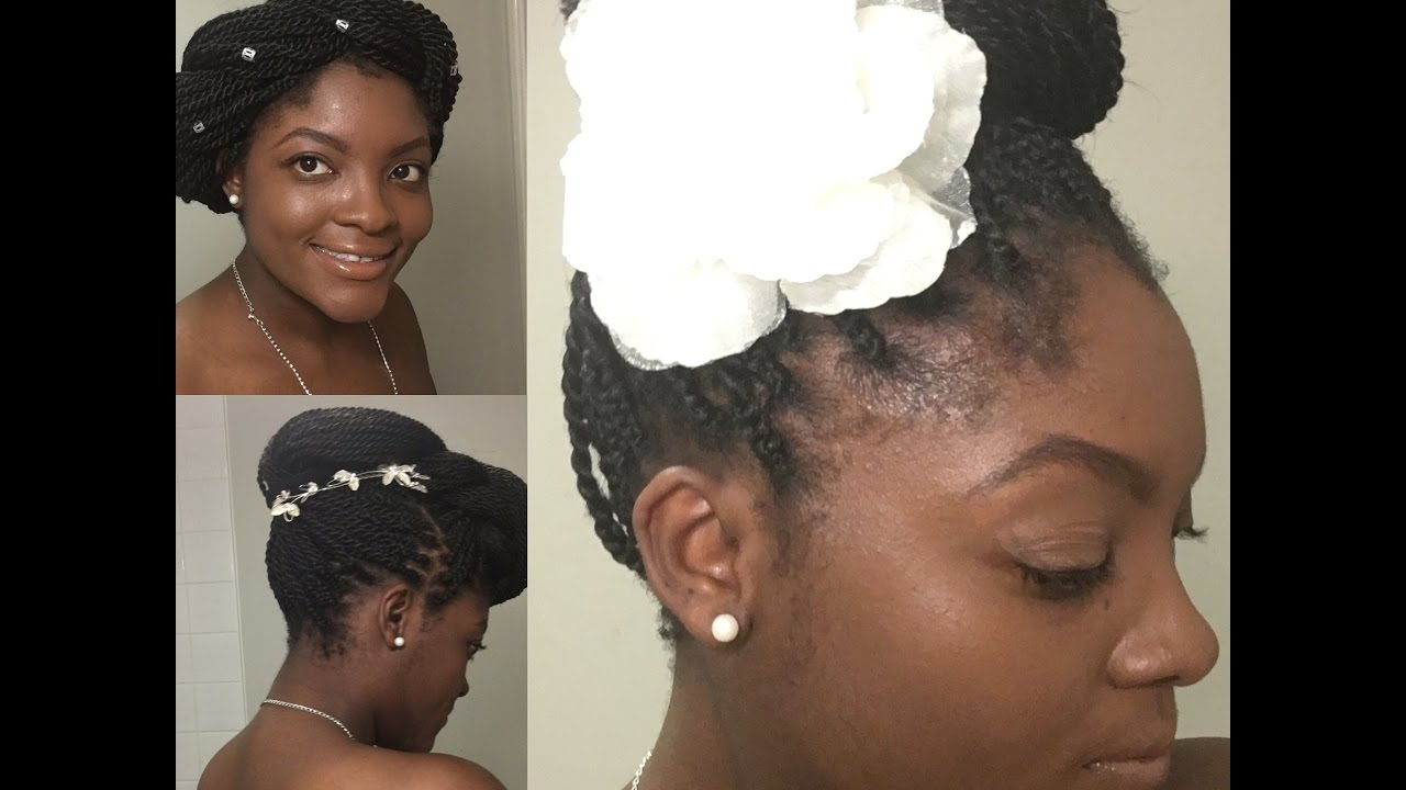 3 quick and easy wedding hairstyles with twists/ braids/locs for afro/ natural hair
